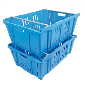cassetta plastica azzurra