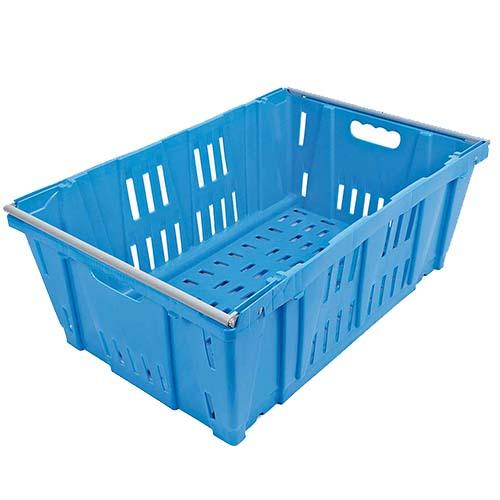 cassa in plastica blu